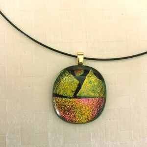Jewelry - Fused Glass Necklace NWOT